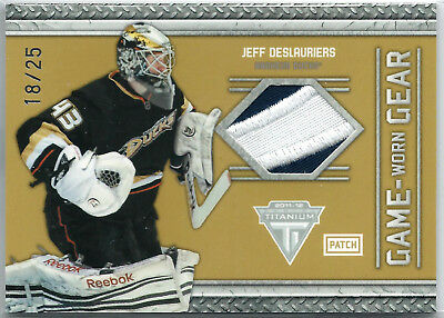 2011-12 Panini Titanium Game Worn Gear Patches #97 Jeff Deslauriers 18/25