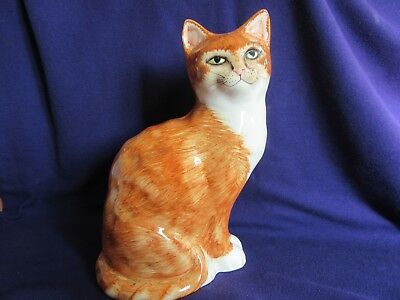 Vintage Ginger And White Babbacombe Pottery Cat.