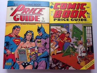 The Comic Book Price Guide No 13 and No 15 Paperback Catalog