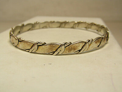 Sterling Silver Jewelry Bangle Bracelet Wavy Twist