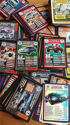 Over 220 TOP GEAR Collectable Trading Cards TURBO CHALLENGE