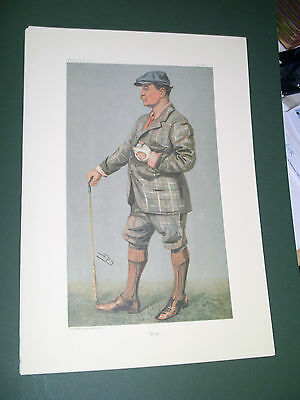 Vanity Fair Print Golfer  Muir Sam Ferusson Golf Player
