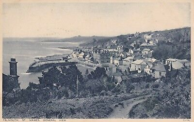 Postcard Falmouth St Mawes General View Cornwall