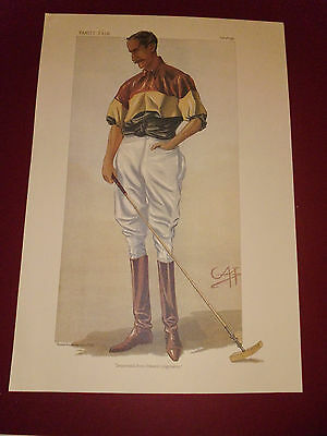 Vanity Fair Print Polo Descended From Edward Longshanks