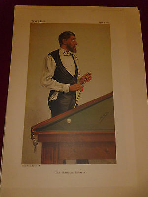 Vanity Fair Print Billards The Champion Roberts