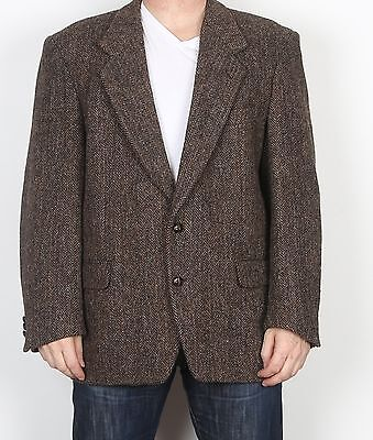 "Harris Tweed 44"" Large XL  Jacket Blazer Brown    (85H)"
