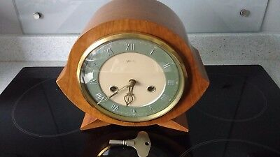 Smiths Enfield Vintage Mantle Clock Chiming 8 Day Early 50s (NOT WORKING)