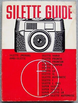 AGFA SILETTE GUIDE, INCLUDING AMBI-SILETTE. FOCAL PRESS. 9th EDITION 1962