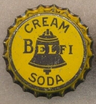 BELFI CREAM SODA Bottle Cap Crown UNUSED CORK Caps from COLLECTION