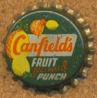 CANFIELD'S FRUIT PUNCH Soda Bottle Cap Crown UNUSED CORK Caps from COLLECTION