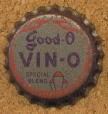 GOOD-O VIN-O GRAPE SODA NEW YORK NY Bottle Cap Crown UNUSED CORK from COLLECTION