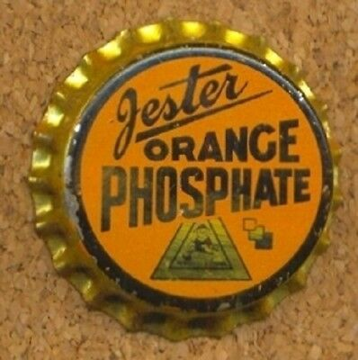 JESTER ORANGE PHOSPHATE ORANGE Soda Bottle Cap Crown UNUSED CORK from COLLECTION