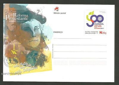 Portugal 500 years Protestant Reformation Martin Luther Postal stationery 2017