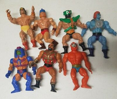 Vintage 1980s He-Man MOTU Masters of the Universe Action Figures Lot of 7