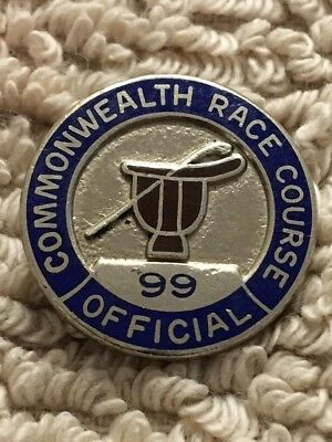 Commonwealth Race Course Official's Pin #99 - Very Scarce Gem (#'d Front & Back)