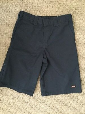Dickies Boys Flat Front Navy Shorts -adjust Waist  Sz 14