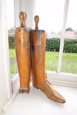 Peal Wooden Beech Trees Lasts Parts Hunting Riding Boots Men's Uk 8 Us8.5 Eu41