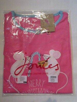 BRAND NEW: Joules 'Merry Christmouse' Pink L/S t-shirt age 9-10 years Christmas
