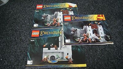 Lord of The Rings 9474 Helms Deep Lego instructions ONLY Books / Manuals