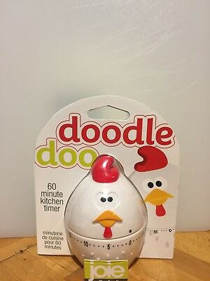 Joie Doodle Doo Mechanical Kitchen Timer,White