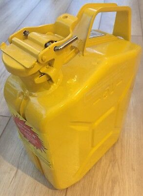 Genuine Wavian Explo-Safe 5 L Steel Jerry Fuel Can Petrol Container Yellow