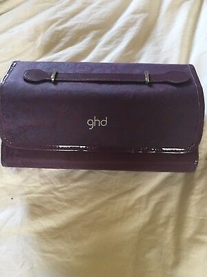 Genuine Purple Ghd Styler Carry Case/ Roll-Bag And Heat Mat
