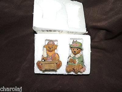 "Homco/Home Interiors #14011 ""Love Letters Victorian Bears Sweet resin bears NIB"