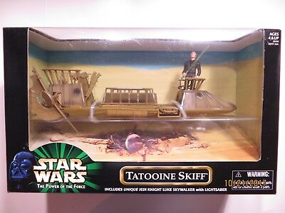 Tatooine Skiff Star Wars Power of the Force 1999 Sealed with Unique Jedi Figure
