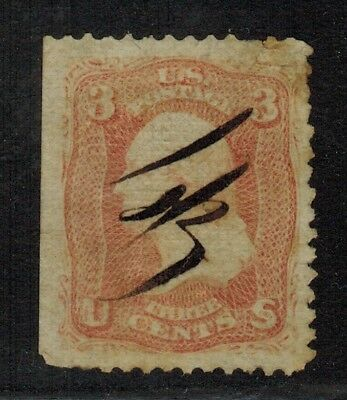 United States #64 Pink Perf.12 1861-62 Used
