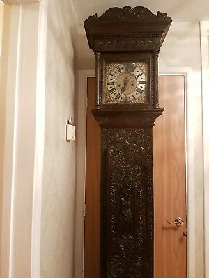 Rare Antique Northern Continental Flemish Longcase Grandfather Clock circa 1695