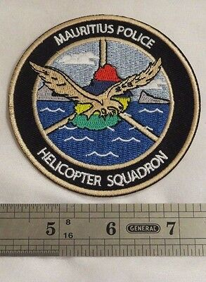 Mauritius Police Helicopter Squadron Patch Never Used