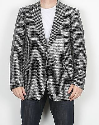 "Harris Tweed 42"" Jacket Blazer Grey Medium Large (FDM)"