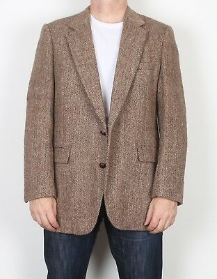 "Harris Tweed 44"" Large XL  Jacket Blazer Brown    (9AA)"
