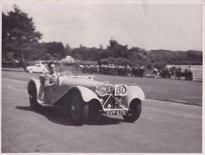 Louis Klemantaski Poole Speed Trials  Motorcar Racing Car  Original Photo 1938