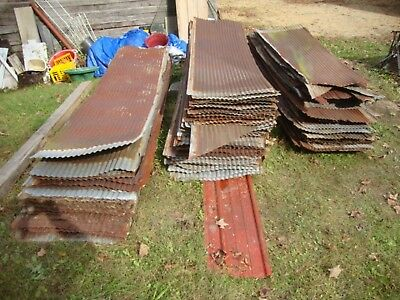 Reclaimed Metal Roofing Panels  Recycled Vintage  Rusty Barn Tin 1800+ Sq Feet