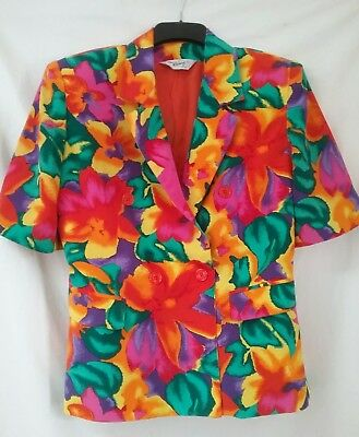 80s bright floral jacket.