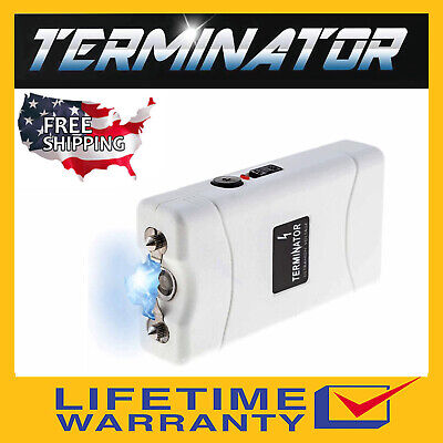 Terminator Sgt801 - 6000 Mv Rechargeable Police Flashlight Stun Gun+Taser Case