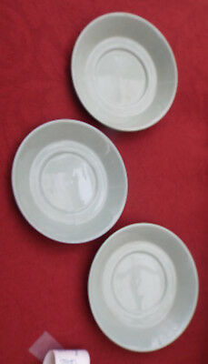 green 1940's wedgwood celadon coffee cup saucers