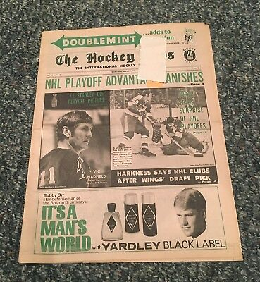 The Hockey News, May 7 1971, Vol 24 No 31, 28 Pages, 11 X 16, Hadfield Maniago