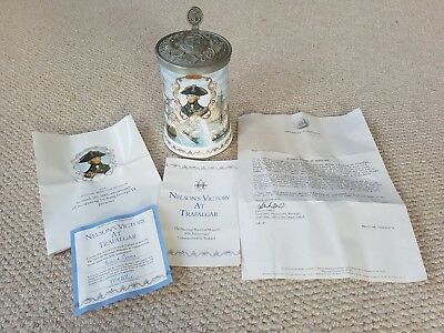 Royal Worcester Nelson's Victory at Trafalgar 50th Anniversary Tankard - 1987