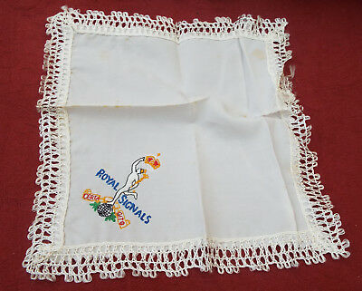 royal signals embroidered handkerchief