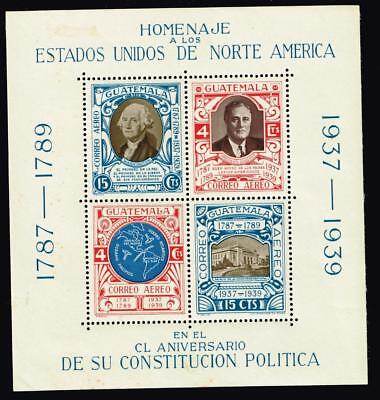 Guatemala Stamp 1938 Airmail - The 150th Anniversary of U.S. Constitution MH/OG