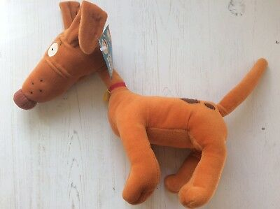 """2001 Nickelodeon Rugrats Plush 14"""" Spike The Dog Toy With Tag"""