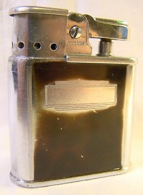 Nice Vintage Ronson Whirlwind Chrome Enamel Automatic Lighter Sparking Well D