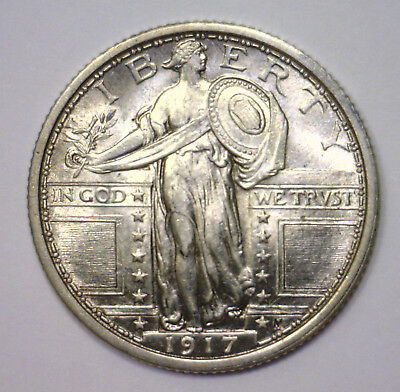 1917 Standing Liberty Quarter TYPE 1 ~ Lustrous Choice About Uncirculated CH AU