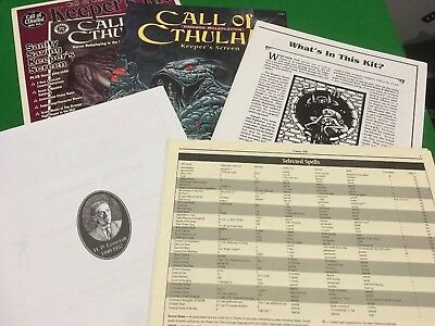 Call Of Cthulhu Keepers Kit For Call Of Cthulhu RPG