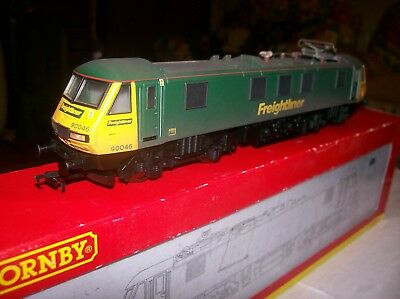 Hornby R3077 Class 90 90046 Original Freightliner Green/yellow Dcc Ready.
