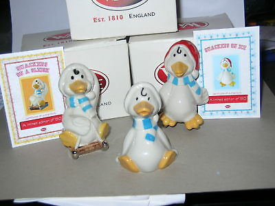 Wade Quackers On Ice ,on Sledge, Sitting. 2000-2002. Boxed Certificates.