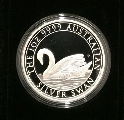 2017 Perth Mint Australian Silver Swan 1oz Proof Coin - In Stock