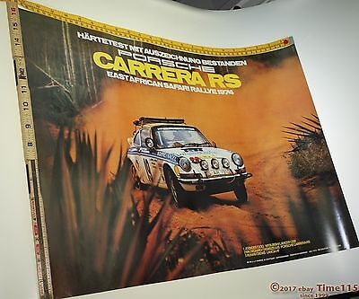 911 Rs Porsche Rally East Africa 1974 Original Factory Reproduction Poster Print